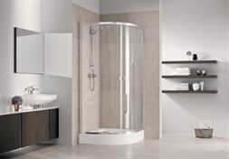 Shower cabin with tray First 80x80, frosted glass