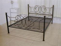 Металлическая кровать 160x200   2D