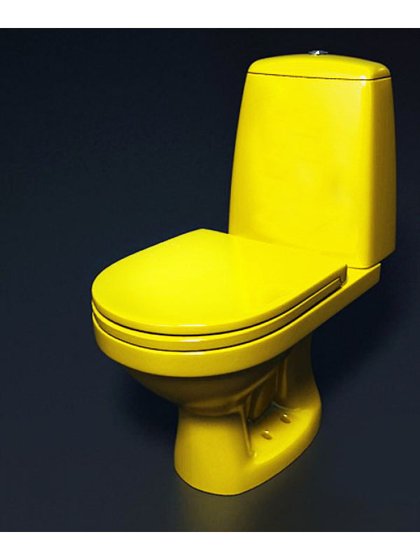 Жёлтый унитаз в интерьере фото