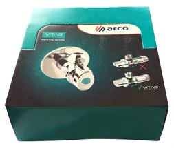 Dekoratīvais lodveida ventīlis ARCO A80MAC 1/2'X1/2' kastē 36gb.